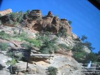 Jagged rocks in Zion National Park as viewed from tour bus.jpg